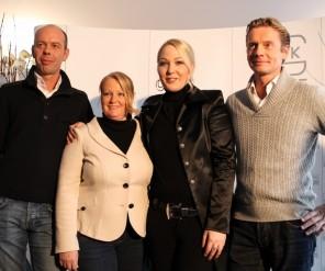 Hans-Peter Minderhoud, Nicole Werner, Kathrin Glock en Edward Gal