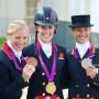Goud Charlotte Dujardin, zilver Adelinde Cornelissen, brons Laura Bechtolsheimer