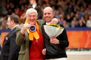 Henk Nijhof sr en Hans Peter Minderhoud. Foto: Melanie Brevink-van Dijk